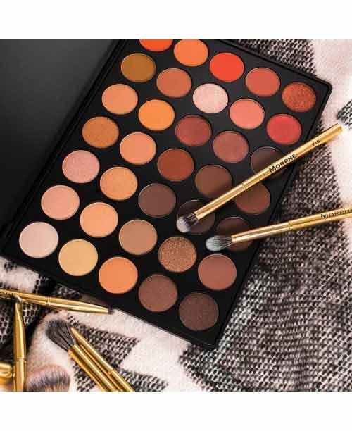 Morphe Brushes - 35O2 Second Nature Eyeshadow Palette - intl Philippines