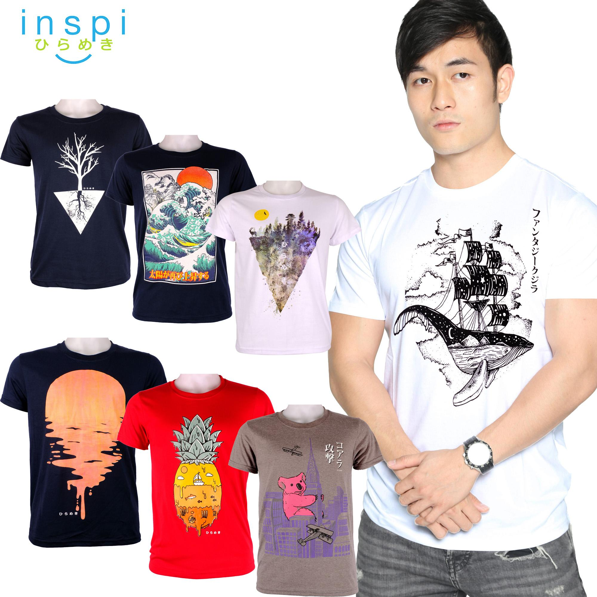 29429772b03 INSPI Tees Nature Collection tshirt printed graphic tee Mens t shirt shirts  for men tshirts sale