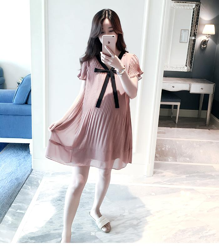 2019 New Style Plus-sized Maternity Clothes Summer Wear 200 Jin Loose Pregnancy a Word