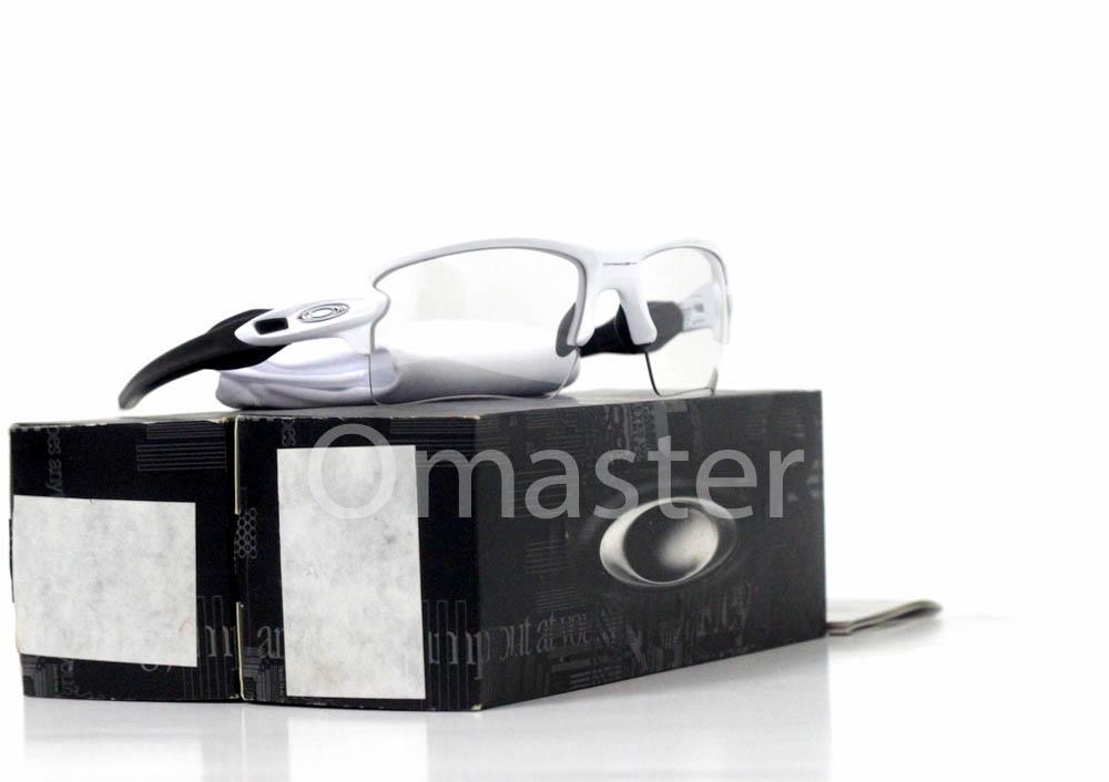 New Original Oakley Flak 2.0 XL Polished White w  Clear Black Iridium  Photochromic Lens 08594c1b28
