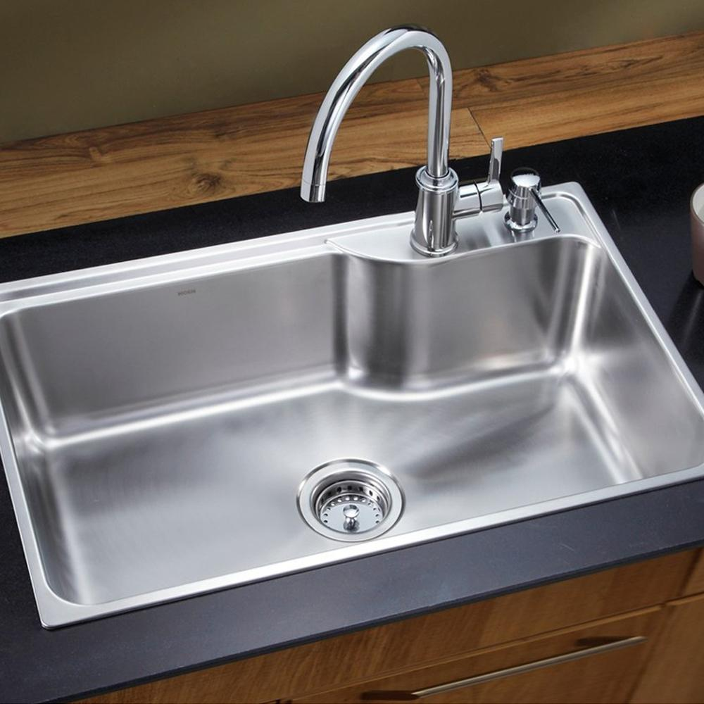 Terrific Moen Essence Chrome Finish High Arc Kitchen Faucet Hot And Cold One Lever Handle 70111 Download Free Architecture Designs Lukepmadebymaigaardcom