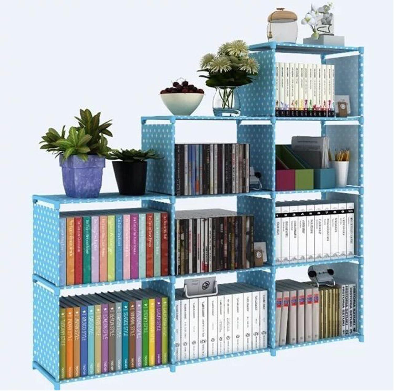 Multi Function DIY Bookshelf Storage Rack 3 Row