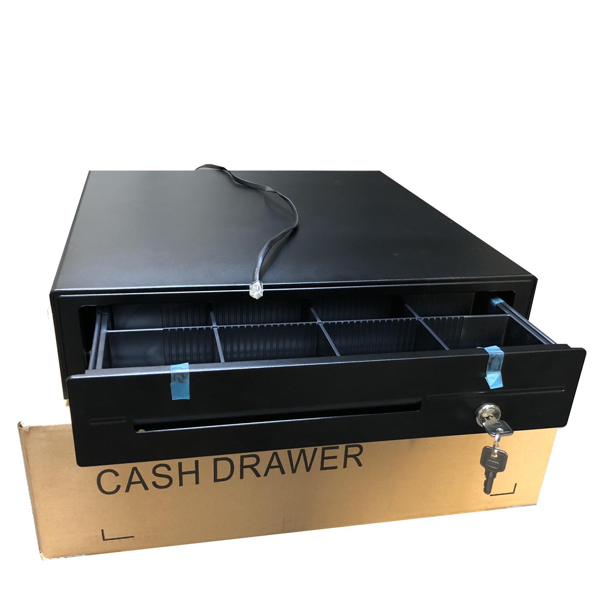 Acuteq AQ 420 Cash Drawer Box for POS 5 Bills 8 Coins 2 Keys
