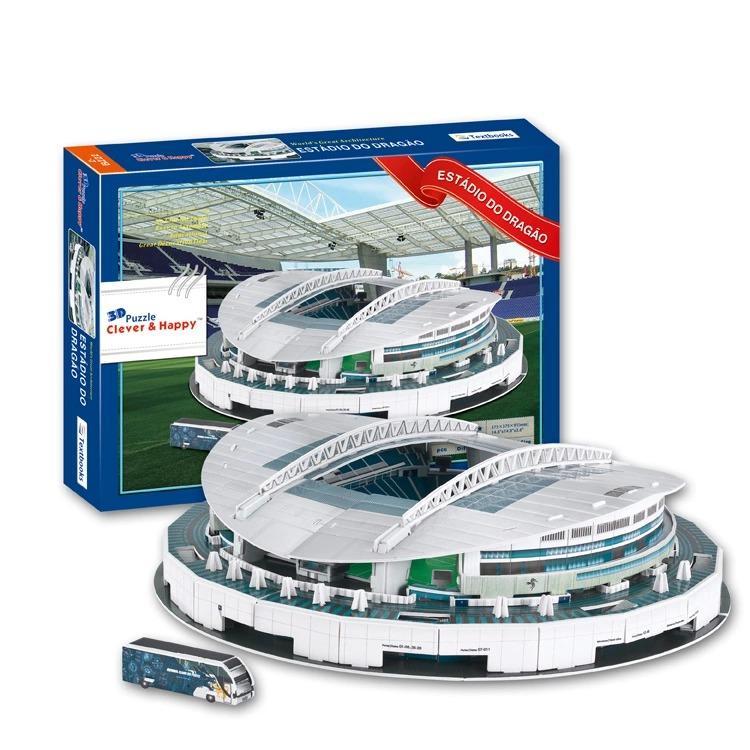 3D Puzzle FC Porto Club Home Estadio Do Dragao Stadium Model ForKids Educational Toy