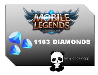 MOBILE LEGENDS 1163 DIAMONDS
