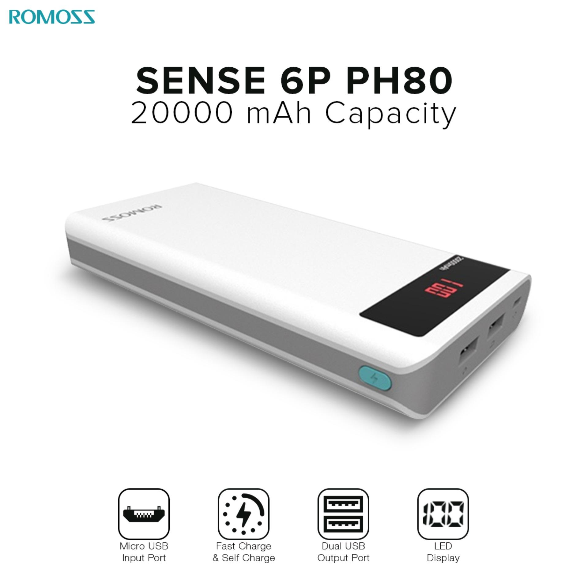 Power Bank For Sale Charger Prices Brands Specs In Xiaomi Mi Powerbank 20000mah Dual Ports Original Romoss Sense 6p Ph80 White