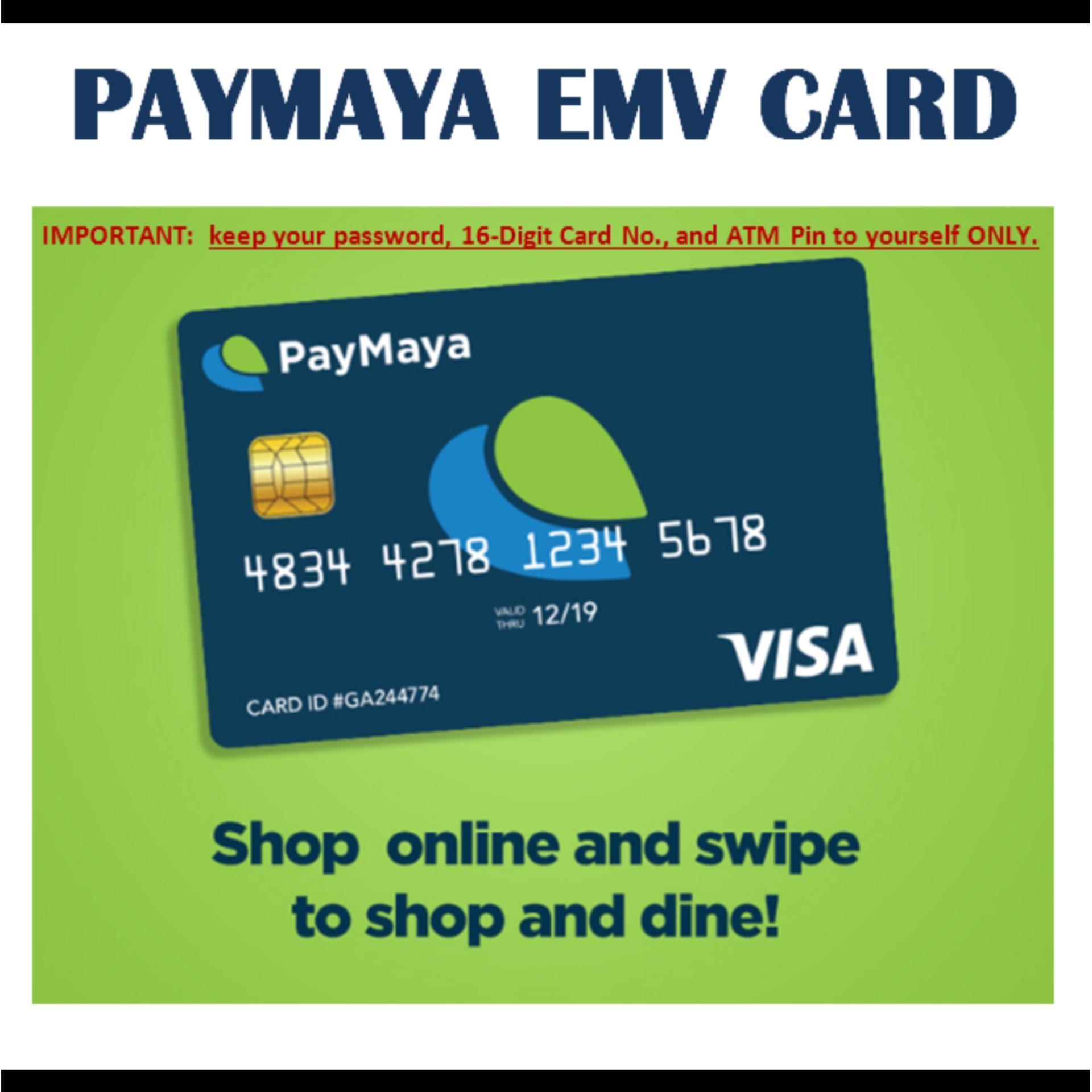paymaya emv atm card - Load Prepaid Card Online