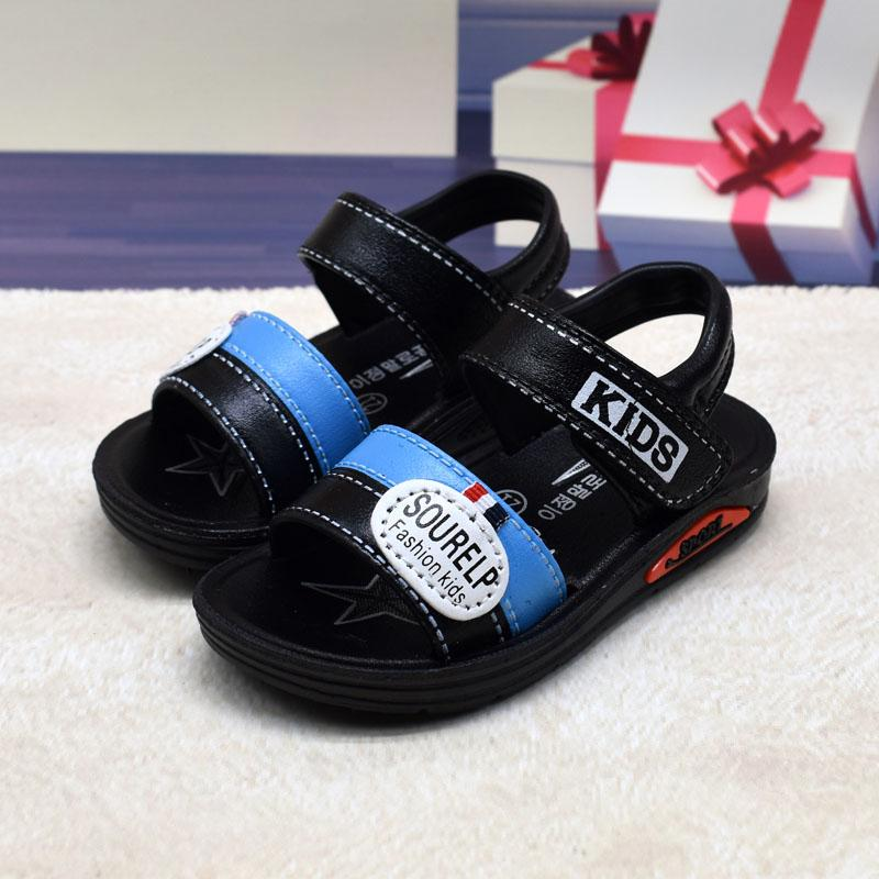 61a760d92885 Children s Shoes Boy s Sandals 2019 Summer Children s Shoes Anti-slip  Sandals Baby Kids Sandals Student s