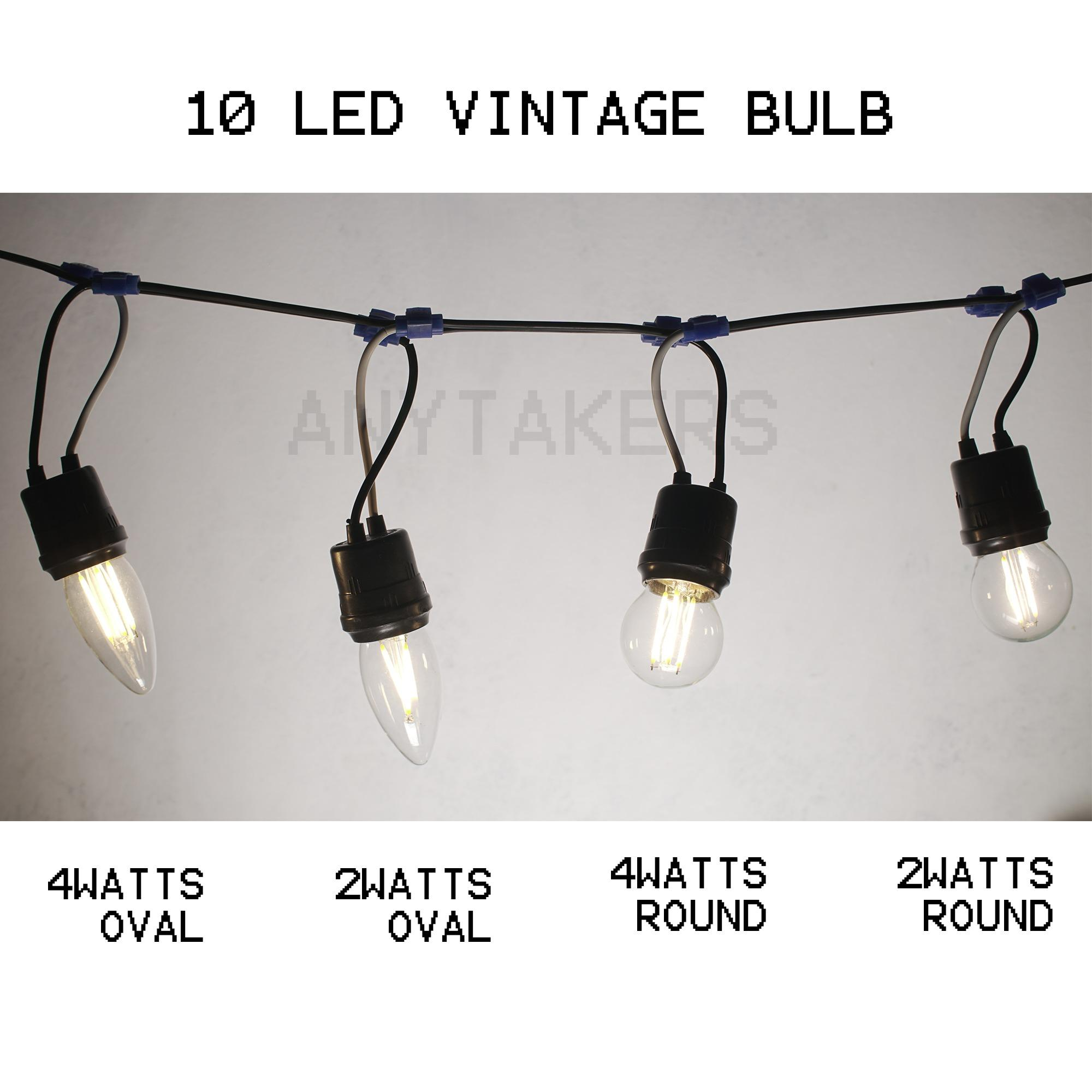 10led Bulb String Of Lights 2watts Led