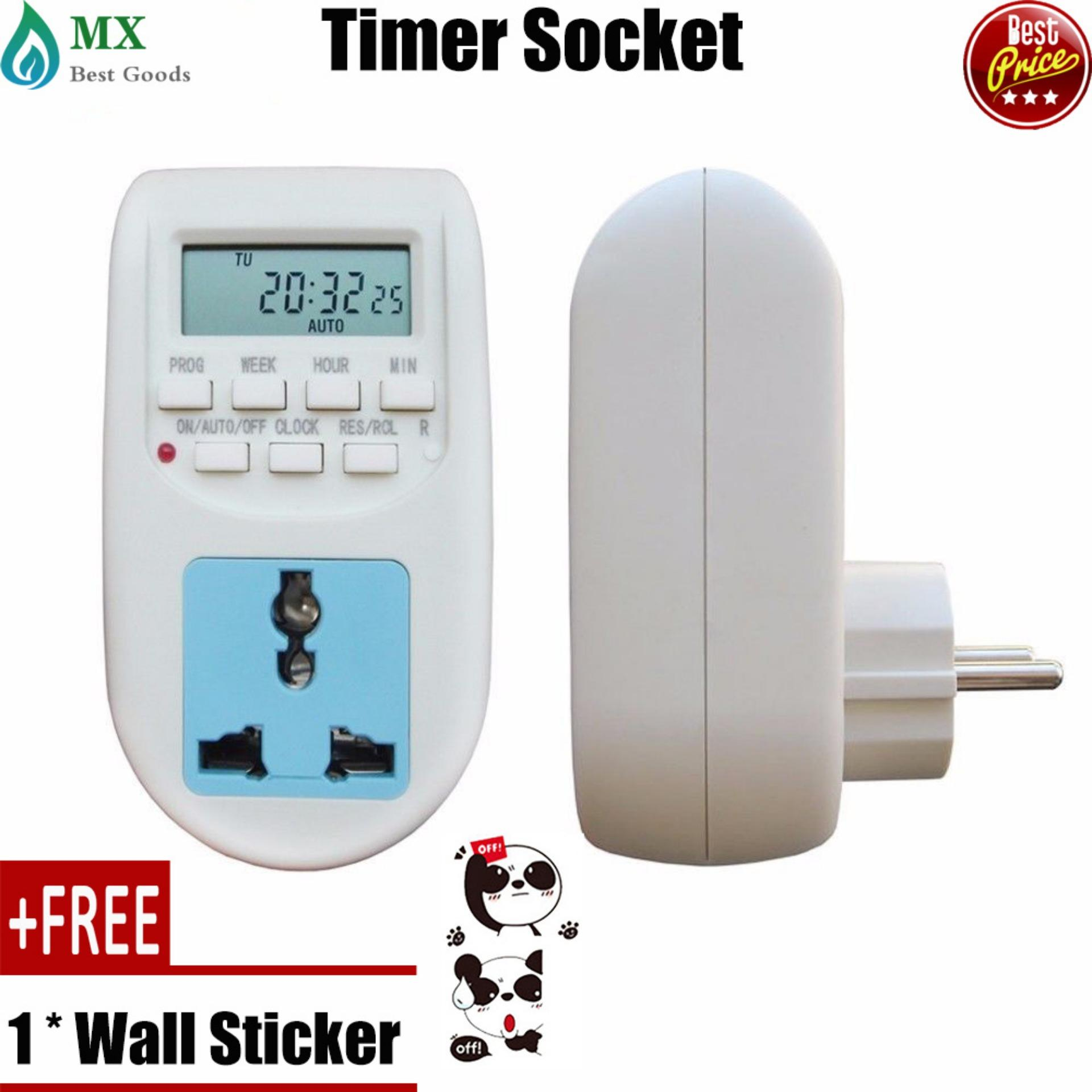 Electric Circuit For Sale Circuitry Prices Brands Review In Amplifier Auto Off Timer Free Gift 1pc 220v Multi Functional Lcd Digital Socket Timing Outlet Switch