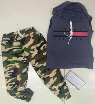 Kid terno hoodie and army pants terno