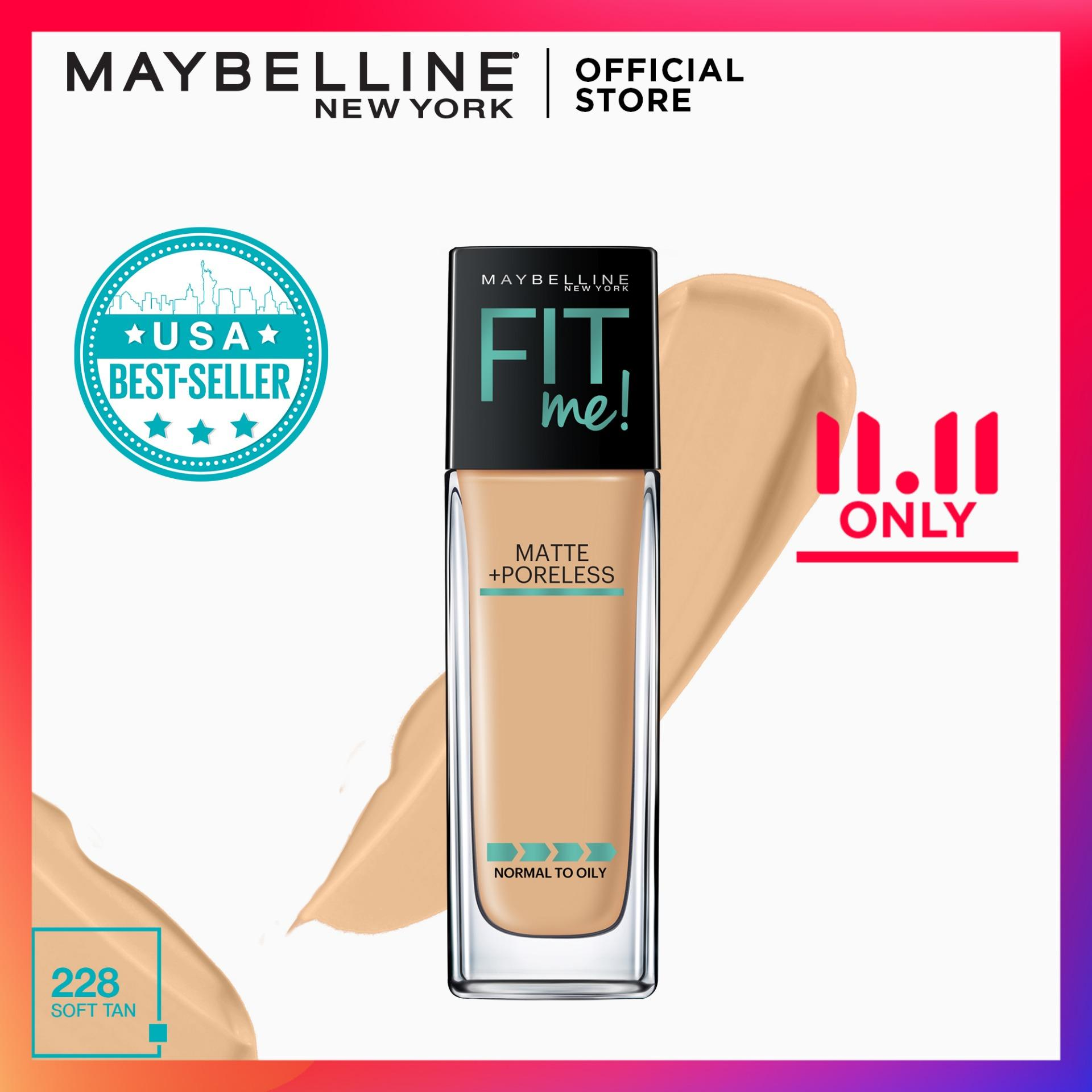 Maybelline Foundation Makeup Philippines Base Fit Me 30ml Matte Poreless Liquid 30 Ml 228 Soft Tan