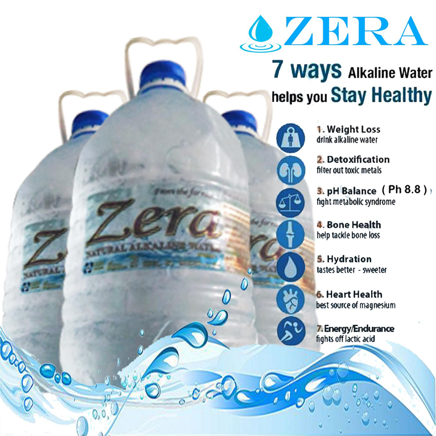 Zera Natural Alkaline Water ( Miracle Water ) 4000ml Per Bottle By Jienrhey.