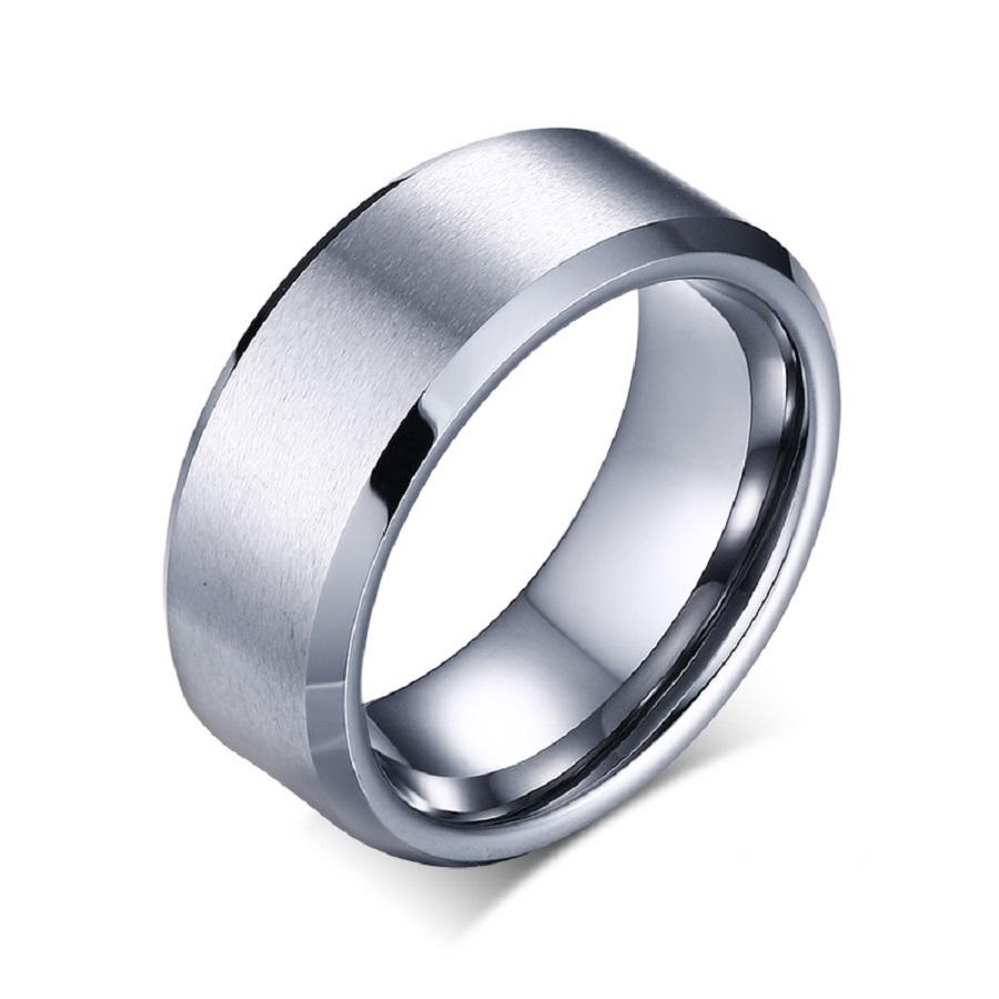 inlay ceramic rings ring tungsten wedding dark band shop gray polished florentine triton bands