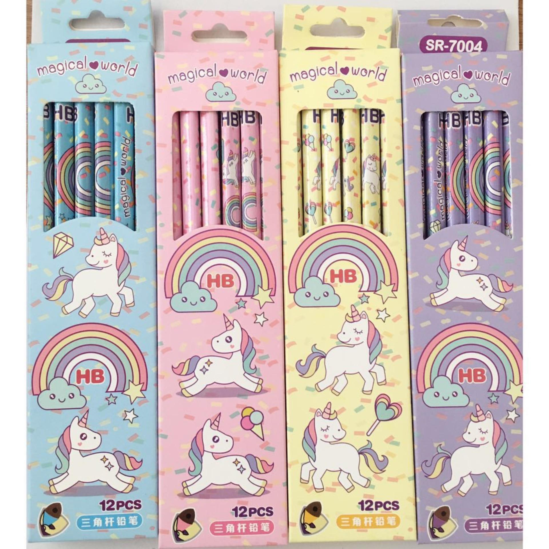 5 sets new unicorn cartoon school pencil set