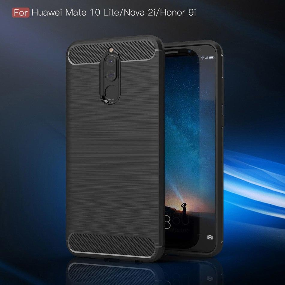 Huawei Nova 2i Case Carbon Fiber Brushed Soft TPU