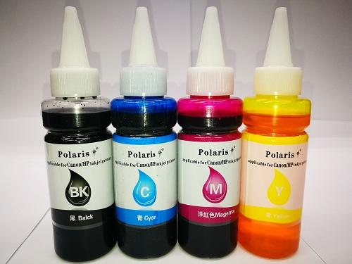 I-3033 4 Colors Polaris Dye Ink 100ml For Canon Printer By Inkdex.
