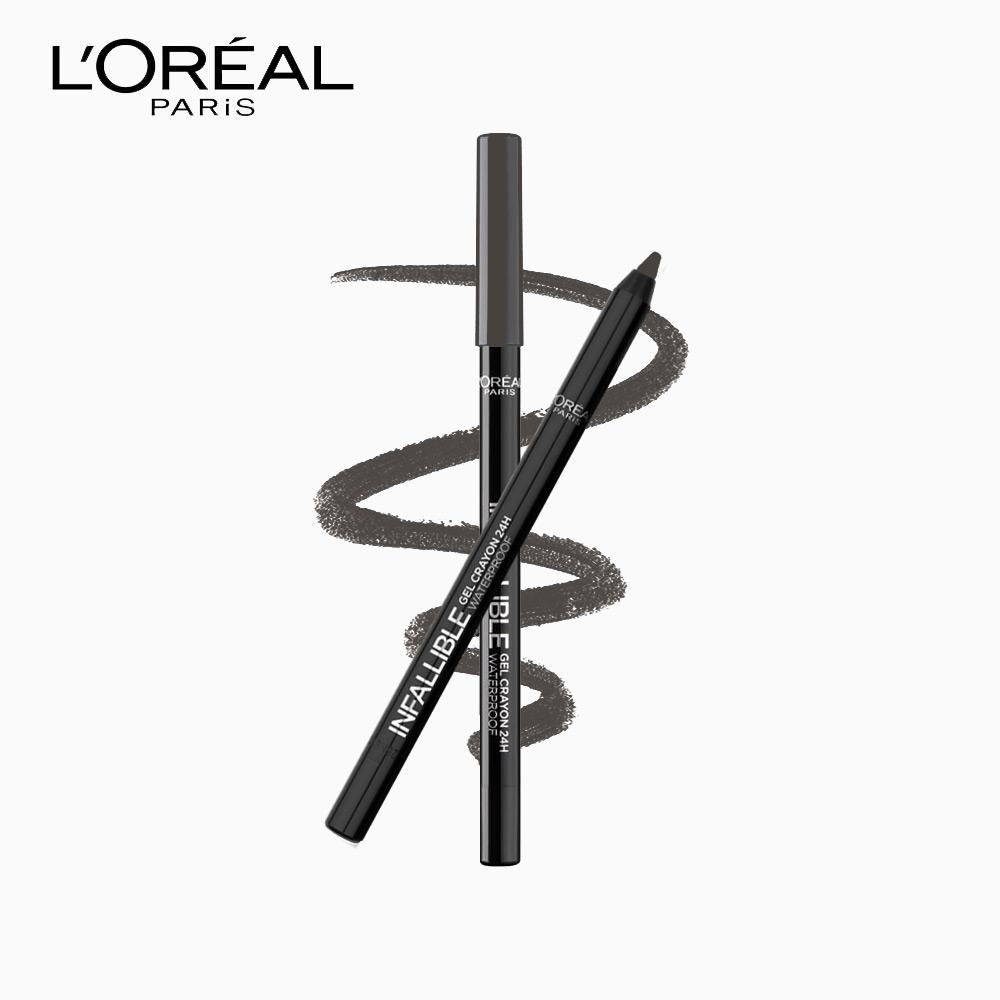 Gel Crayon 24H Waterproof Eyeliner - Grey Fever by LOréal Paris Infallible Philippines
