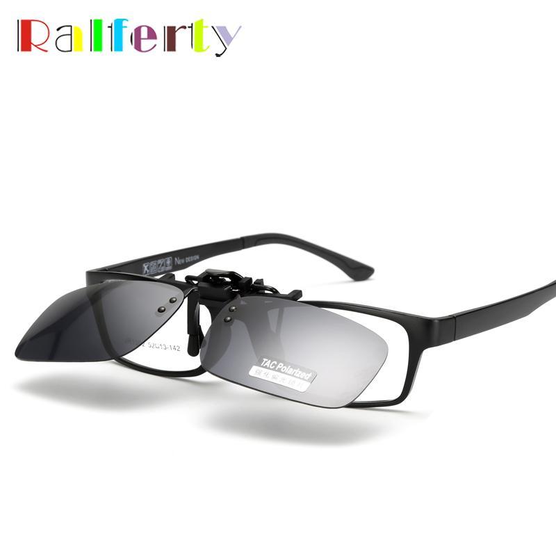 689c5bb70e3 Ralferty Quality Polarized Clip On Sunglasses Men Sport Driving Night Vision  Clip Anti UVA Sun Glasses