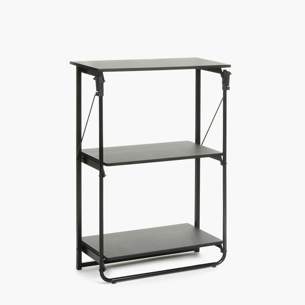 SM Home Gidley Renata 3 Tier Foldable Rack (Black)
