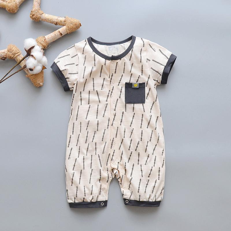 Newborn Baby Onesie Short Sleeve Summer Thin Section 3-6 Month man 4 women  Baby 1745a7c8ef