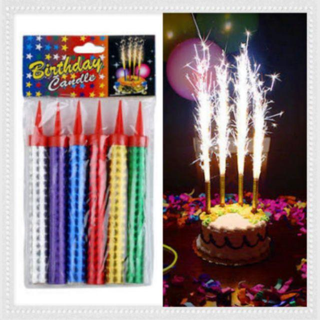 Universal Celebration Candle Birthday Party Cake Candles Spark Firework
