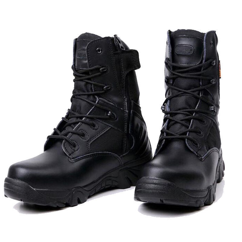 New Army Tactical Desert Mens Leather Combat Boots Military Shoes ... 089ad7f7f