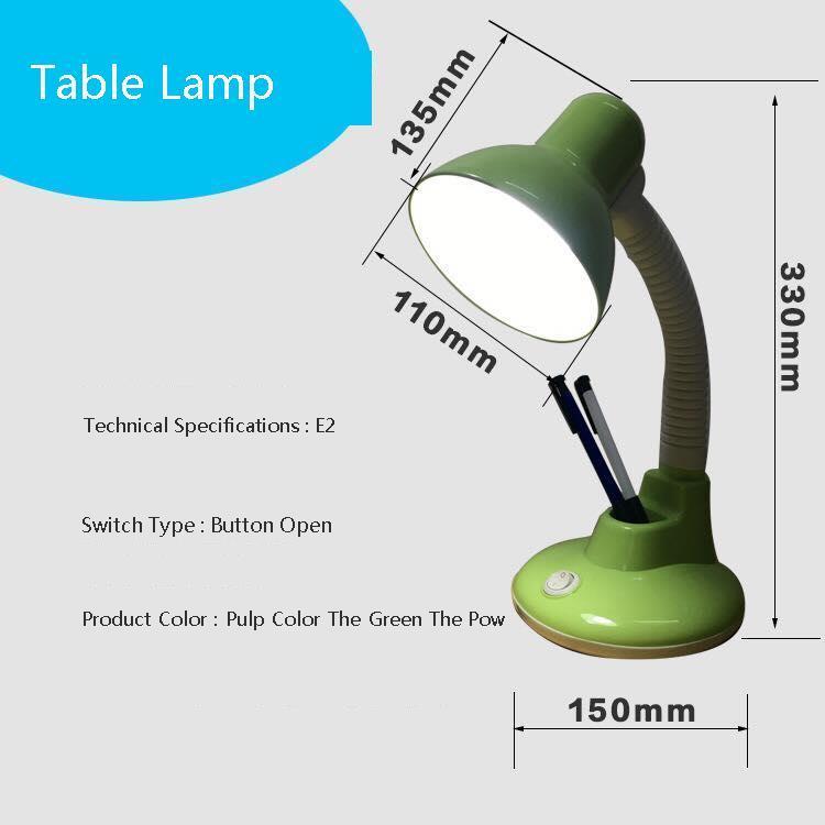 Metal adjustable long swing arm desk lamp led table lamp office led reading led desk table