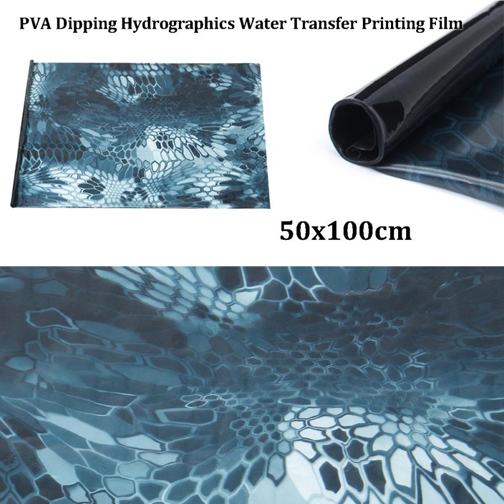 PVA Hydrographic Film Water Transfer Printing Hydro Dip Carbon Fiber BLUE  HEX - intl