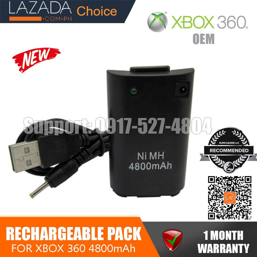 Xbox Charger battery 4800mAh Rechargeable Pack Battery with USB to on