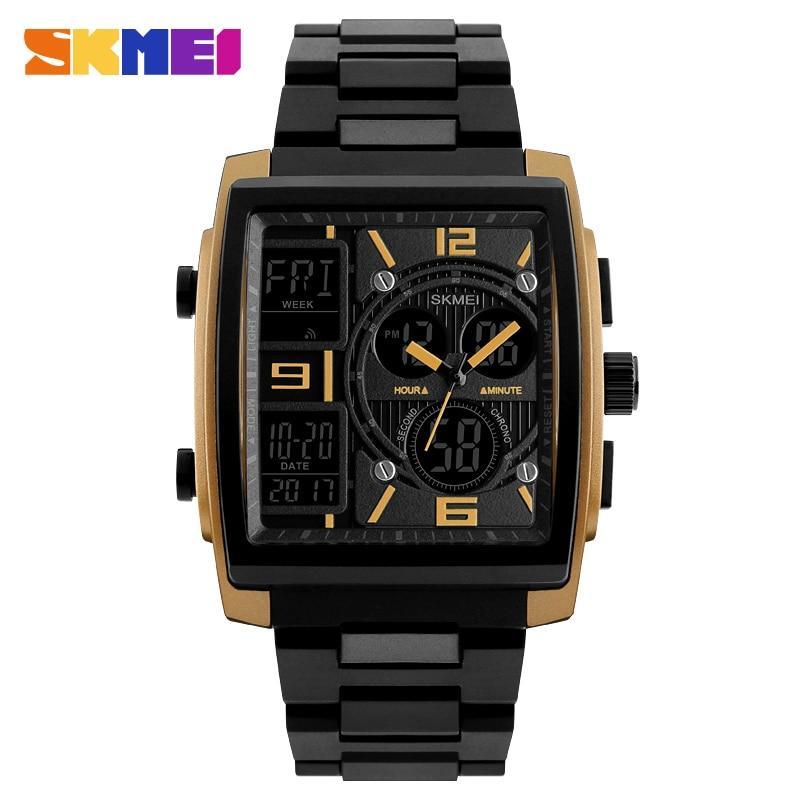 42046cc3993d7 SKMEI Men Sport Watch Clock Electronic Dual Time Waterproof Watches Chrono  Countdown Digital Wristwatch Relogio Masculino