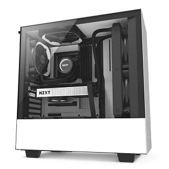 Nzxt H500 Compact Mid-Tower Case With Tempered Glass By Pinklehub.