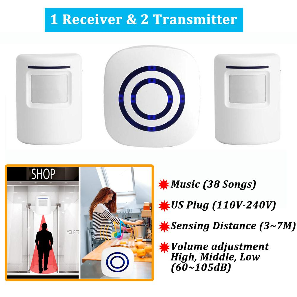 Home Security For Sale House Alarm Prices Brands Review In Dooropening Using Hall Sensor Electronics You Wireless Infrared Motion Detector Entry Door Bell 1 Receiver With 2 Transmitter Us