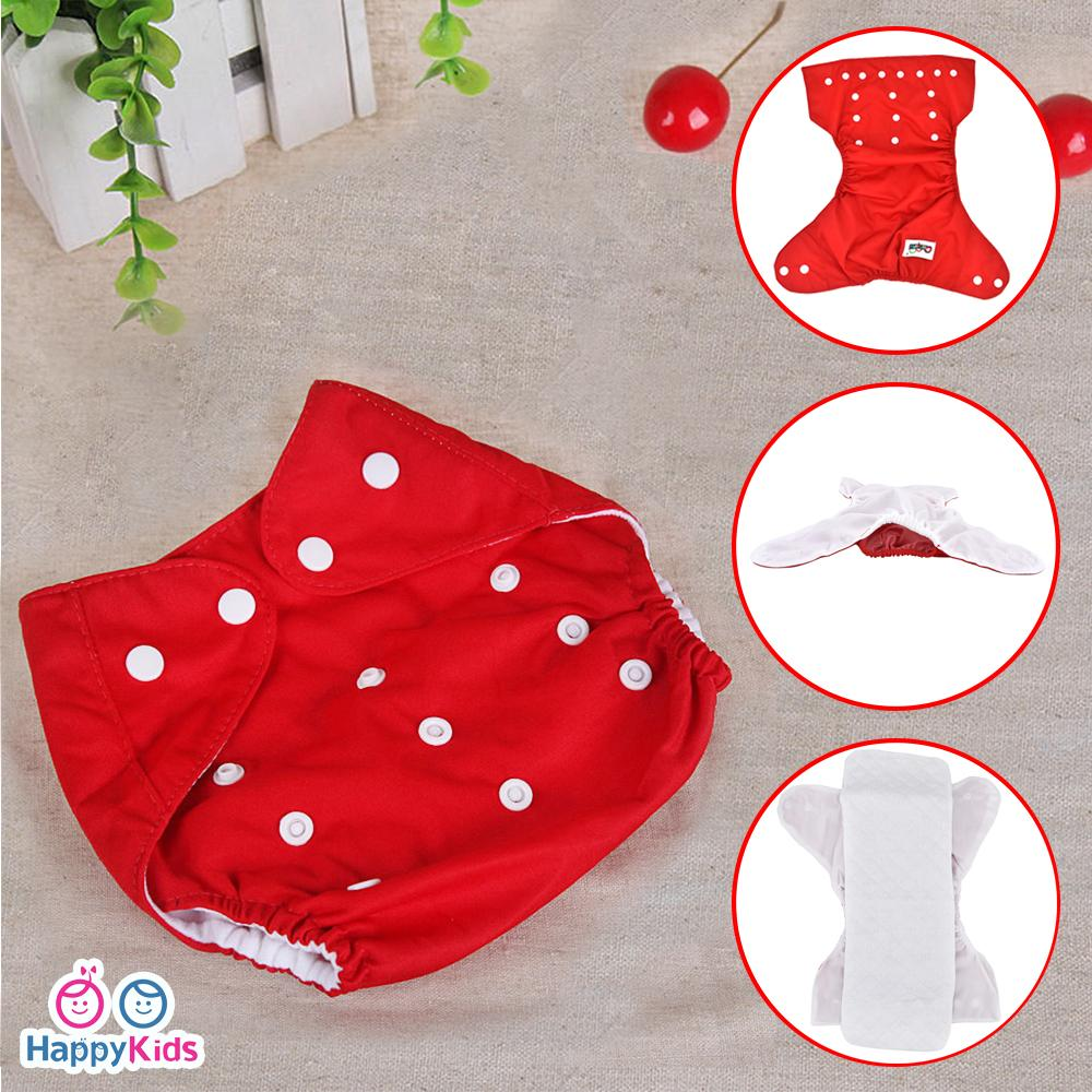 737debea8cf Happy Kids Reusable Nappies Diaper   Washable Diaper with 1 piece Cloth  Insert
