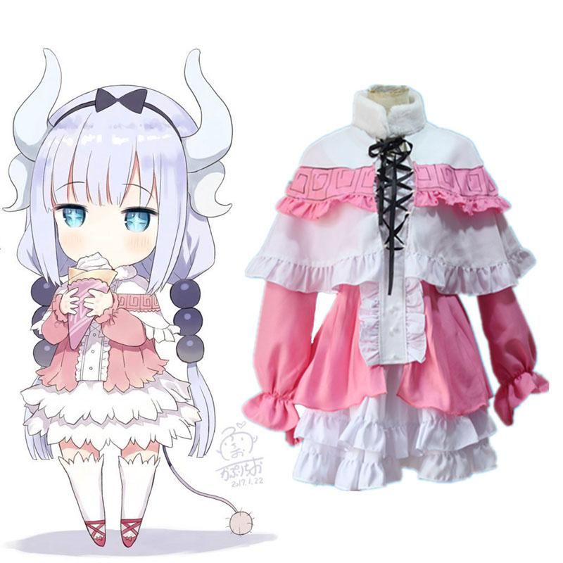 Anime Kobayashi GAMDER Dragon Maid Connor COS Costume Lolita Skirt Cosplay  Clothing Three-piece Set e62cf133a4a3