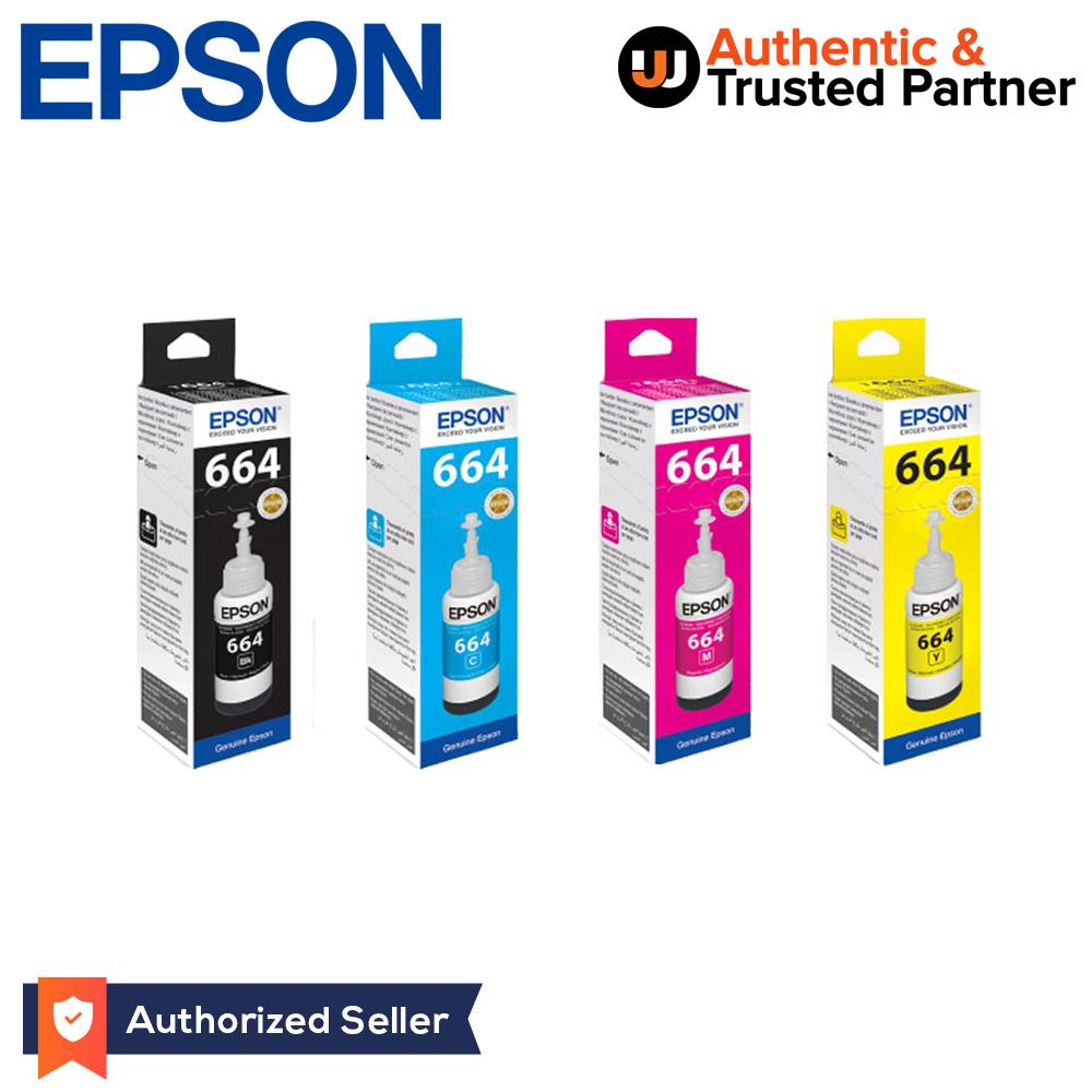 Epson Original T6641 T6642 T6643 T6644 Inks Set Of 4 (4 Colors) By Jw Summit.