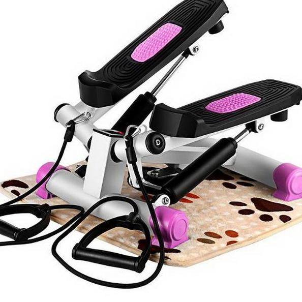 Indoor Running Training Mini Stepper With Resistance Band ( Pink ) By Sports Shop.