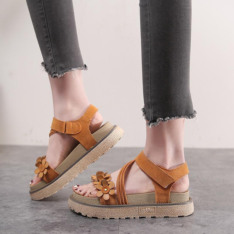 28493f91793 FORVO Brand Summer 2019 new matte muffin platform shoes Rome college wind  wild magic flat sandals