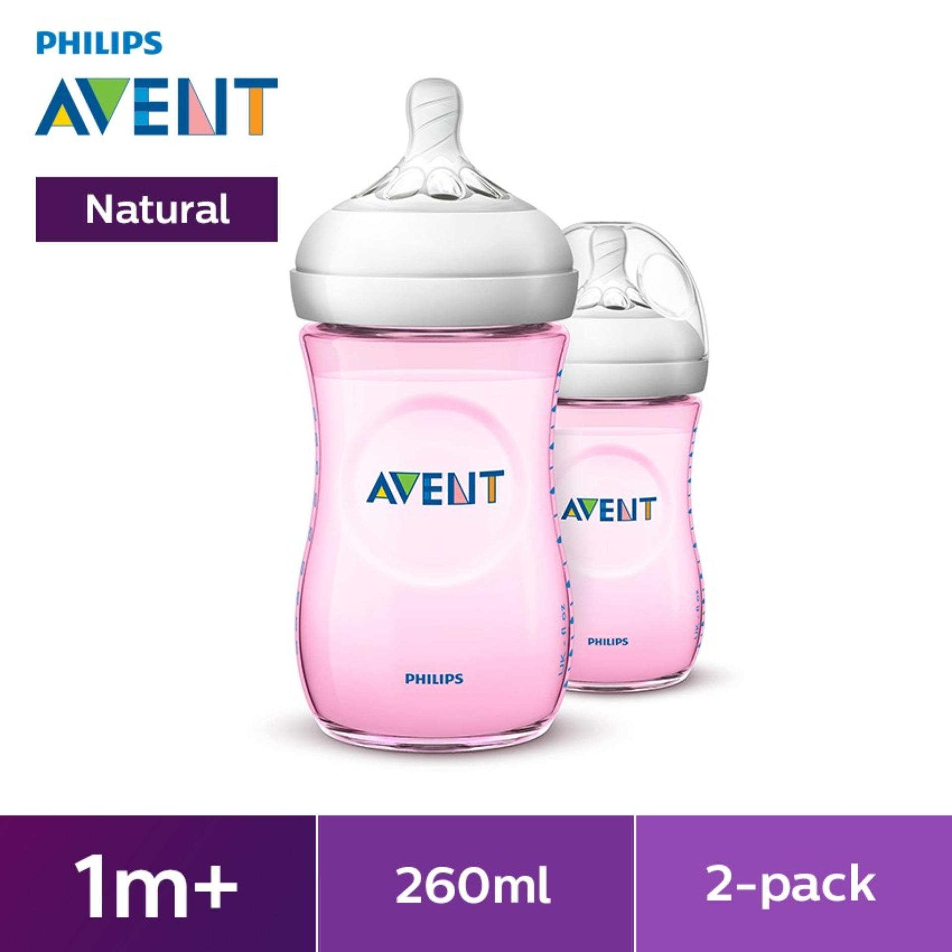 Philips Avent Natural 9oz Bottle Twin Pack - Pink By Lazada Retail Philips Avent.