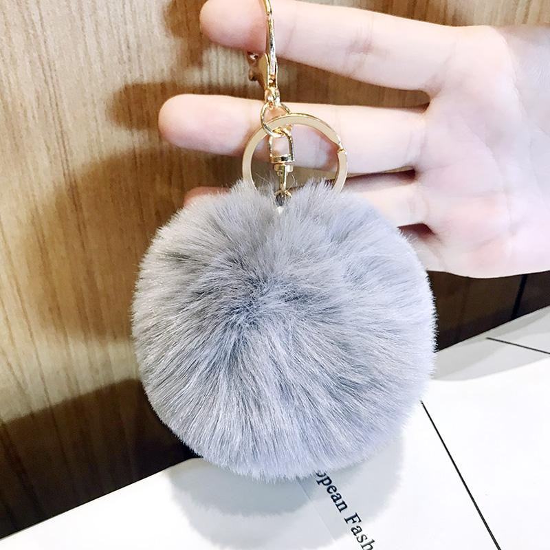 184710c992 AMOG Fur Ball Bag Keychain for Car Key Ring Handbag Bag Decoration