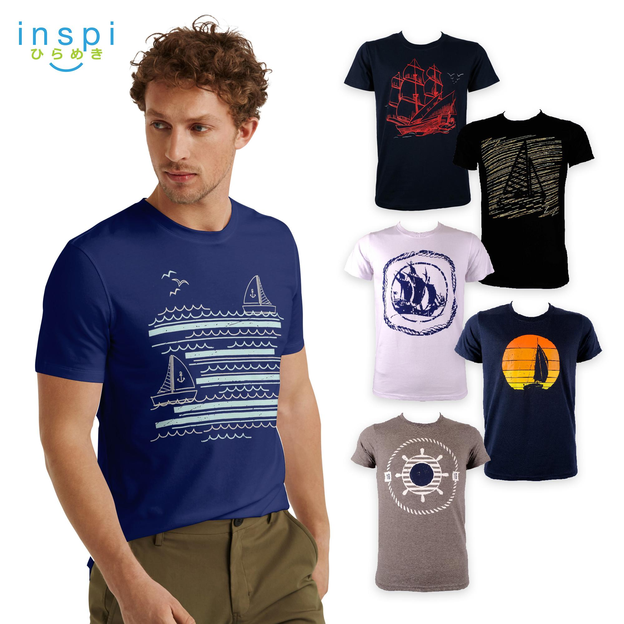 f7fb2a98687 INSPI Tees Sailing Collection tshirt printed graphic tee Mens t shirt  shirts for men tshirts sale