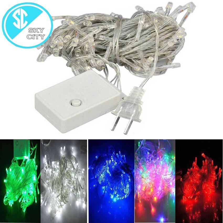 skycity ds520 100l led lights decorative strip lights christmas tree garden decor christmas lights christmas led