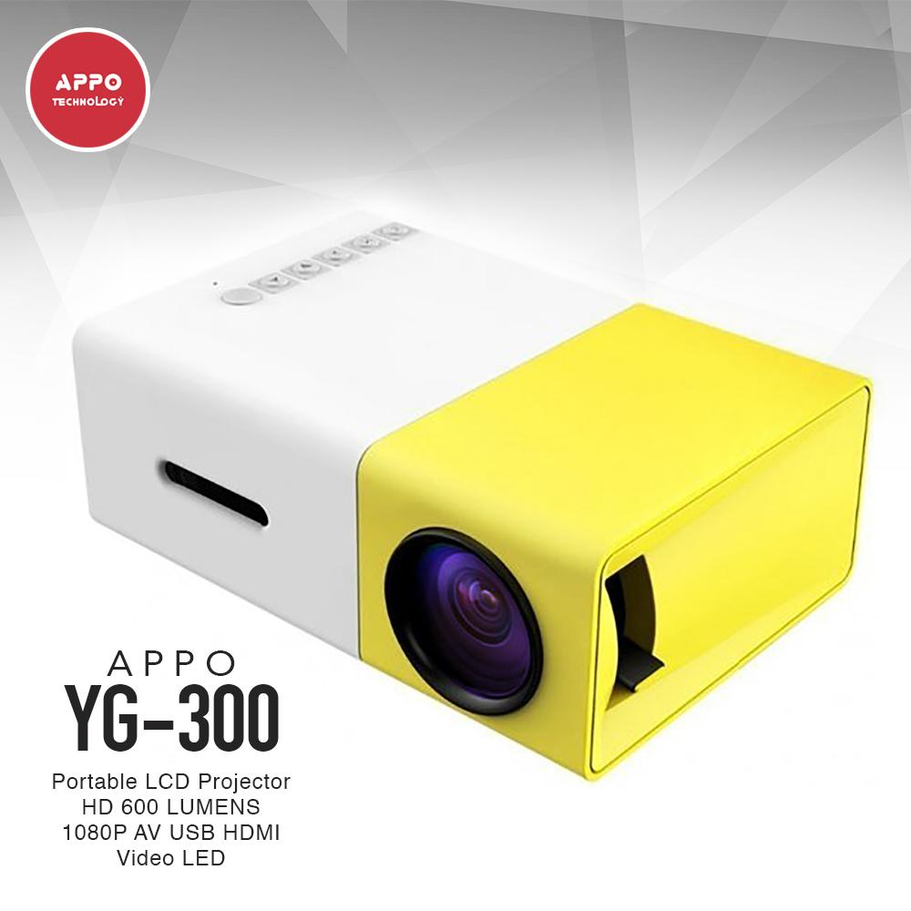 APPO YG-300 600 Lumens Mini Portable Projector (Yellow)