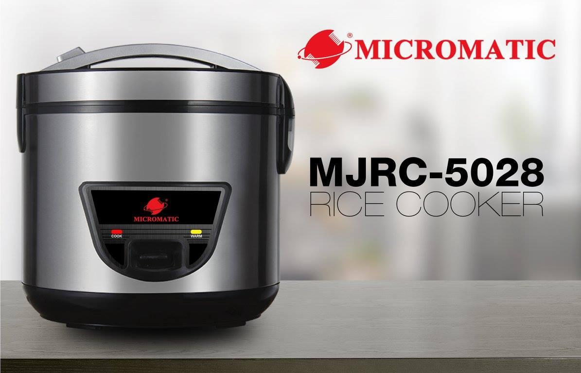 Micromatic Mjrc 5028 Dura Rice Cooker 15l With Steam Rack 8 Cups Of Hanabishi Electric Fan Wiring Diagram 220v