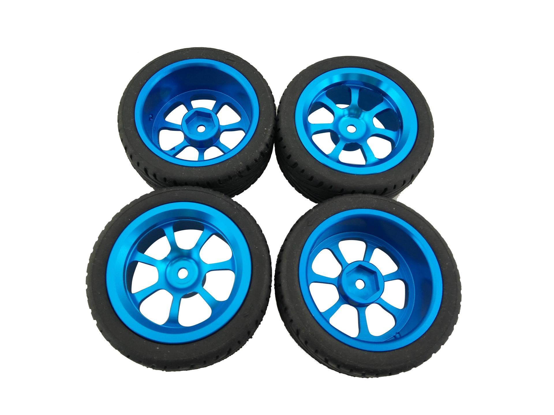 Ym 4pcs Alloy Rims & Tires Rc Car Wheels For 1/18 Wltoys A959-B A979-B A959 A969 By Yingdd Mall.