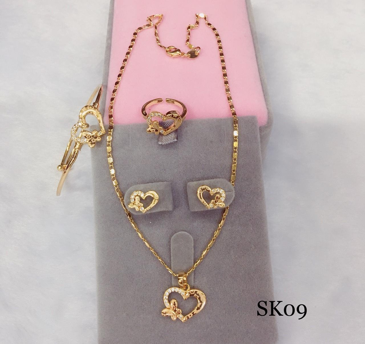 Sk09 High Quality 18k Rose Gold Stainless Steel 4 In 1 Set For Kids By Miss M Shop