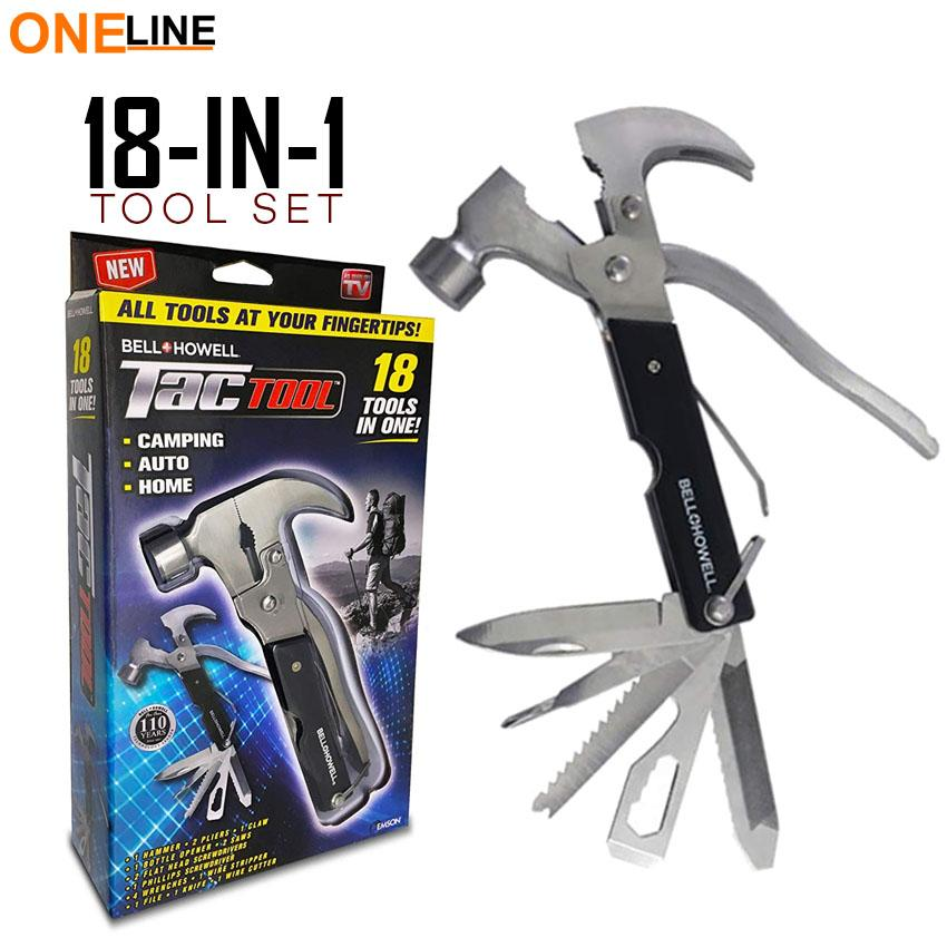 Oneline 18 In 1 Stainless Steel Multifunctional Safety Hammer - Outdoor Climbing Hammer Philippines