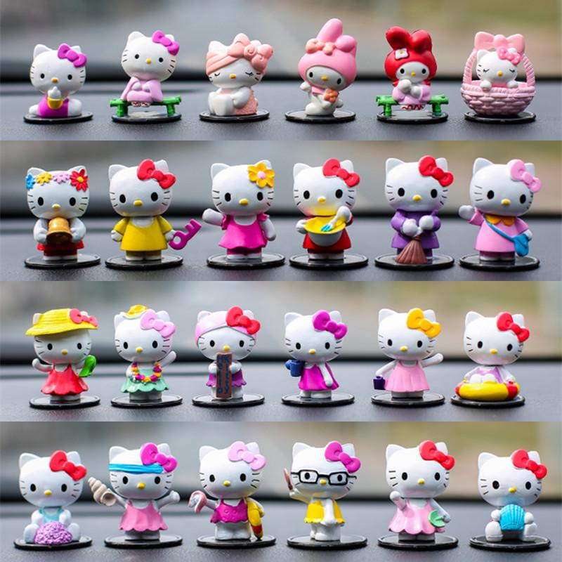 75f9510e5 New Products Cute Hello Kitty35 Anniversary Creative 58 Car Decoration Nei  Shi Pin Cartoon Garage Kit