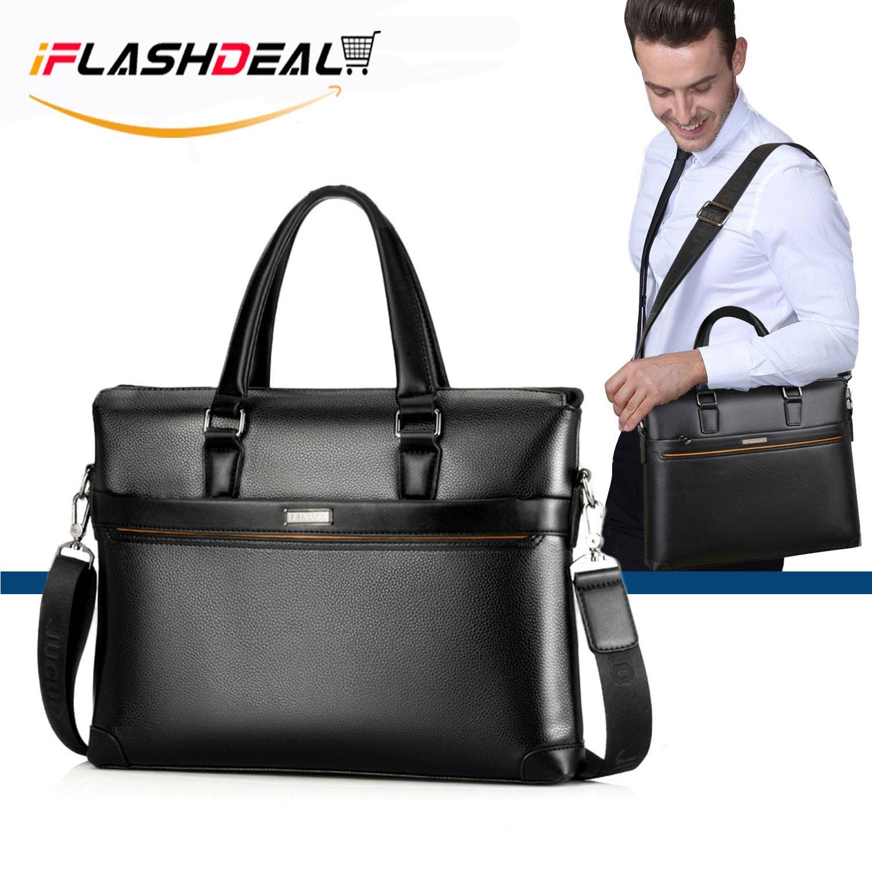 iFlashDeal Men Business Bag Briefcase PU Leather Shoulder Bag Laptop Bag  Messenger Sling Bags 5f52dc0f0a727