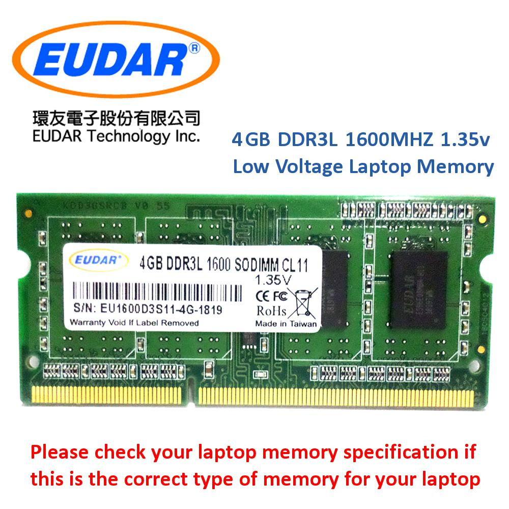 Buy Sell Cheapest Eudar 2 Pieces Best Quality Product Deals Ram Ddr2 Pc6400 4gb For Amd System Only Ddr3l 1600mhz Low Voltage 135v Sodimm Laptop Memory